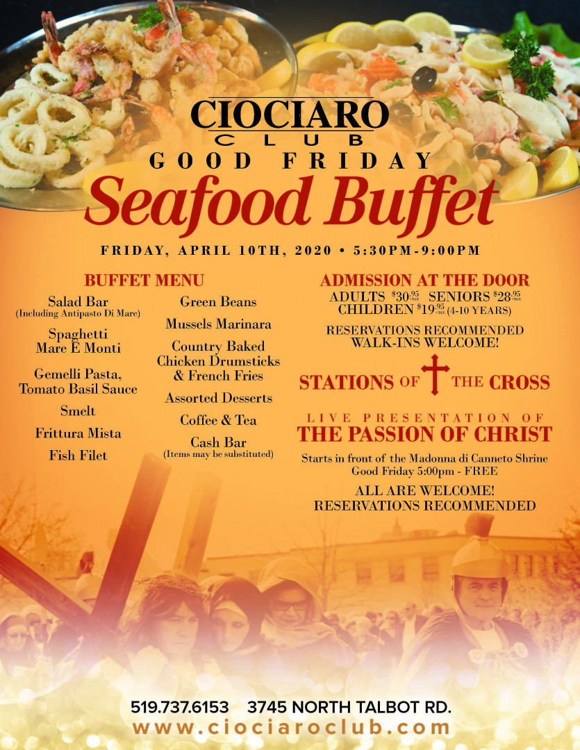 Good Friday Seafood Buffet & Stations of the Cross