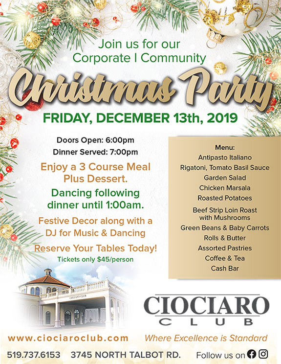 Corporate   Community Christmas Party