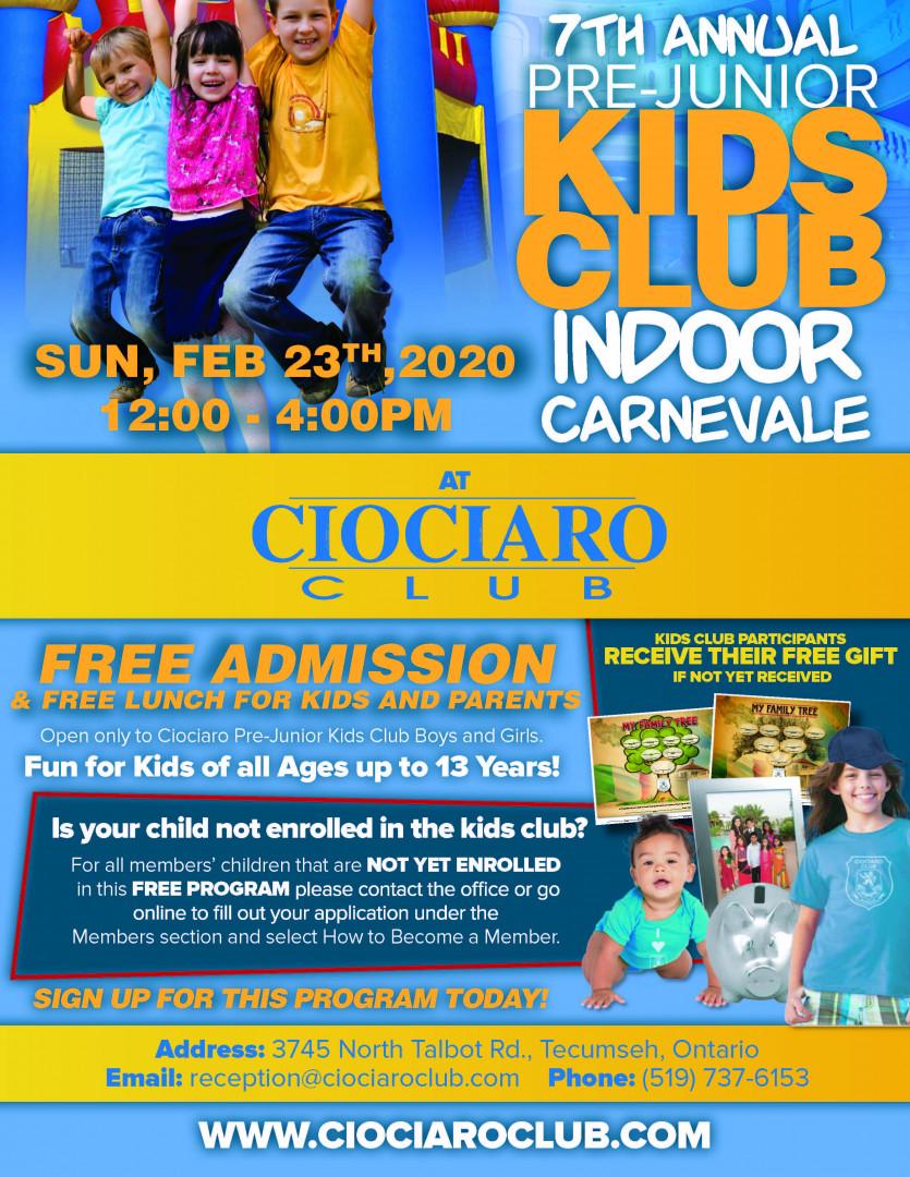 Ciociaro Kids Club Carnevale